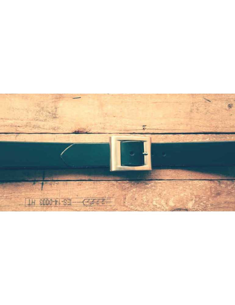 cinturon negro piel