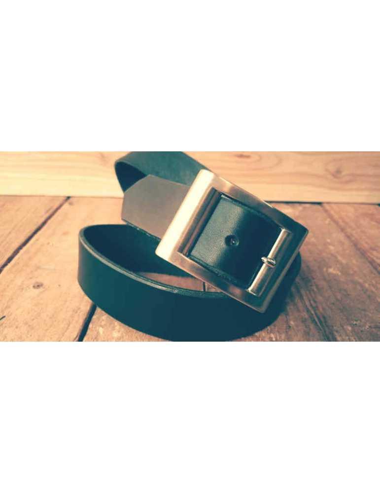 cinturon negro cuero hombre