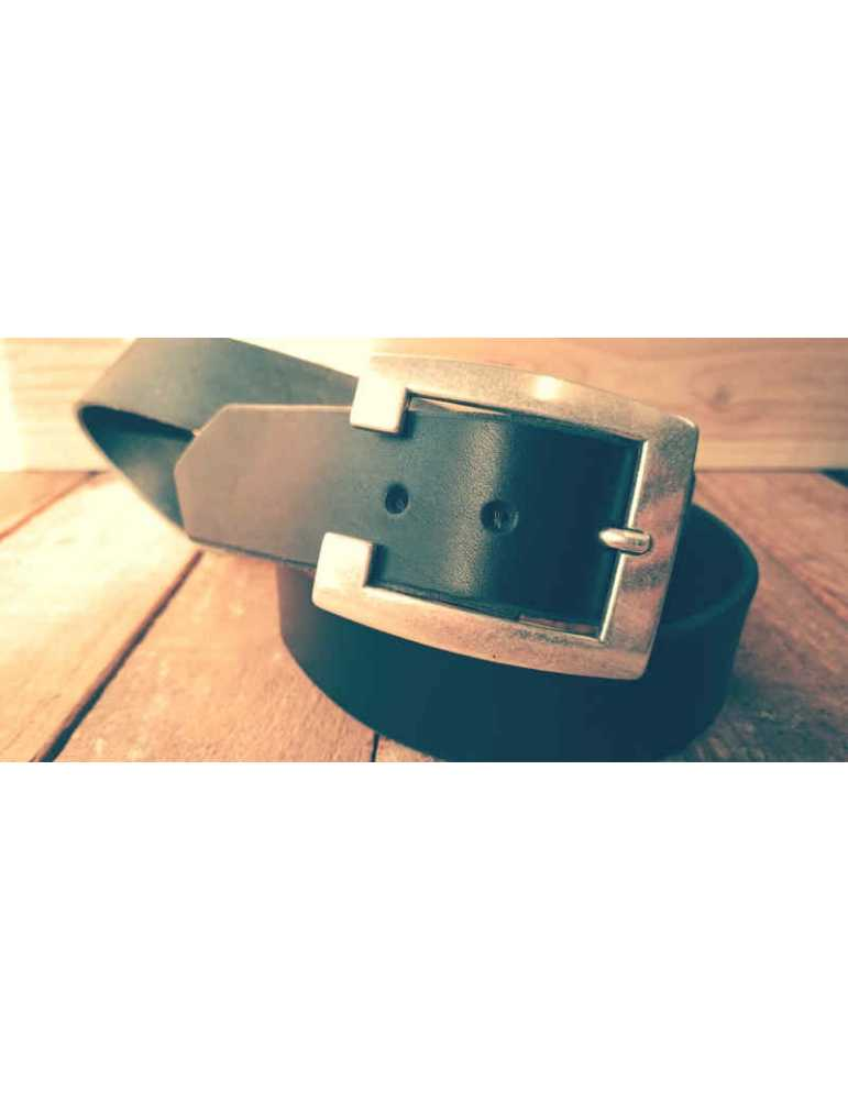 full grain leather belt black