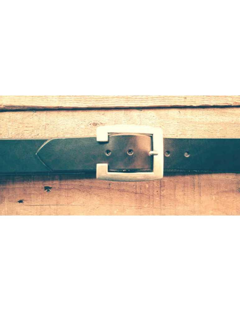 brown hand made belt