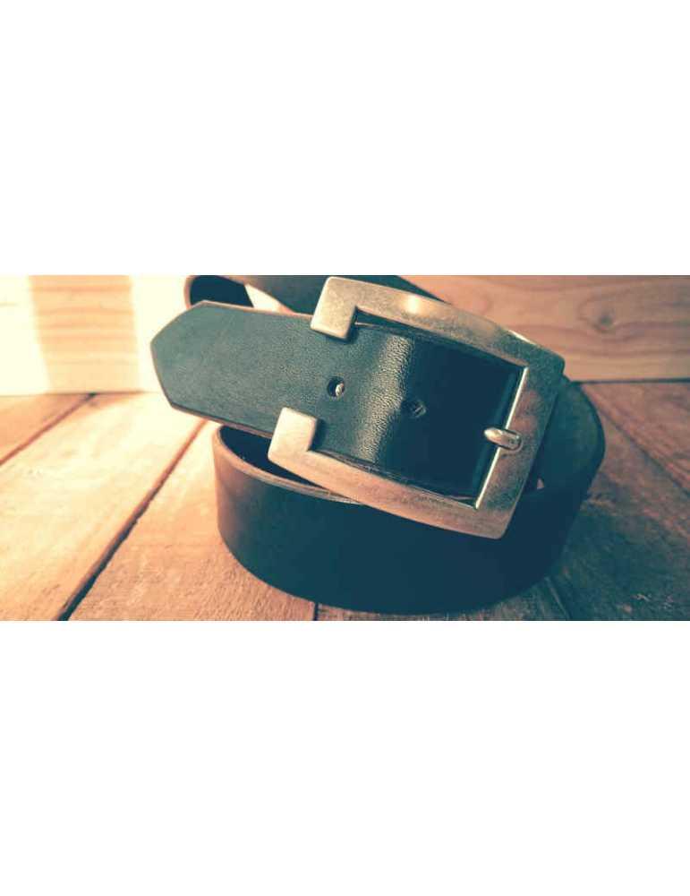cinturon marron cuero