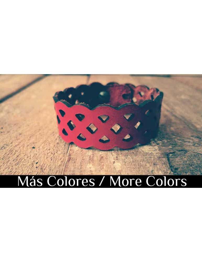 openwork leather bracelet