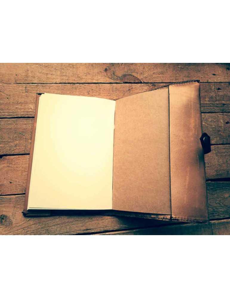 Fundas de cuero para libros  Hieros Leather Funda de cuero para libros, agendas o cuadernos. Diseño Girasol Funda de cuero para