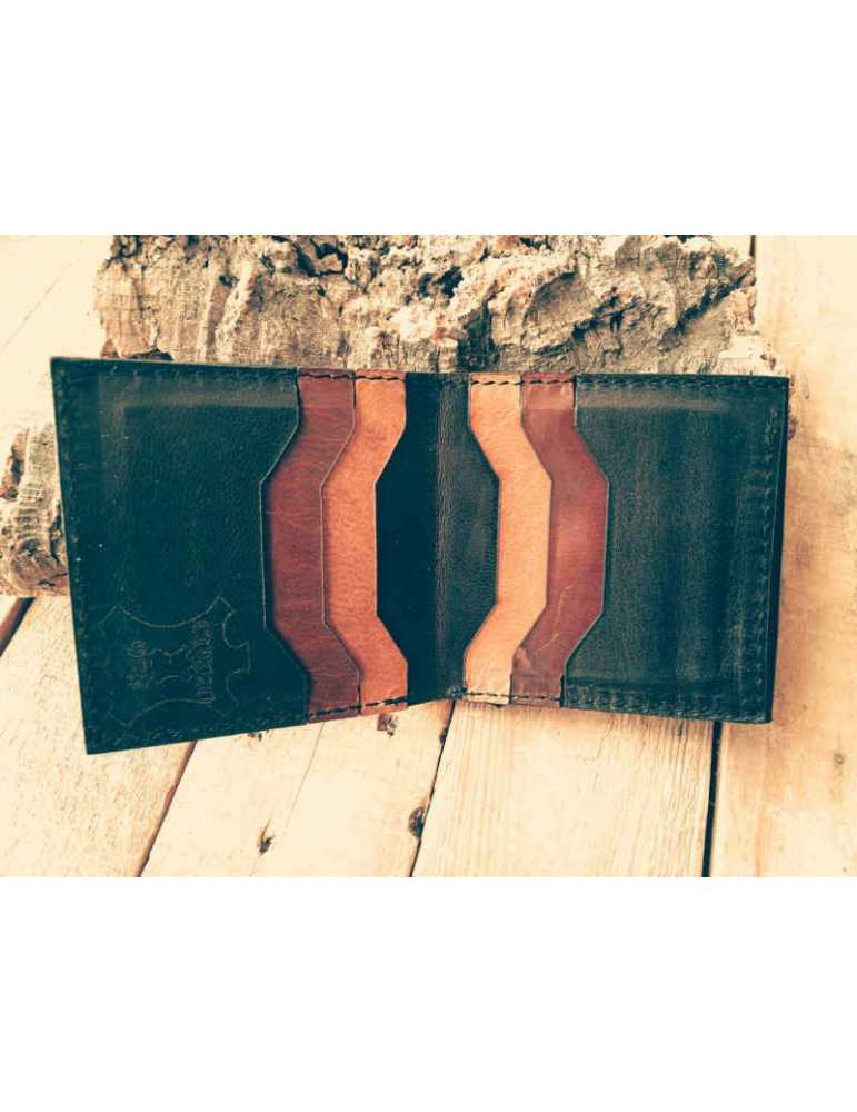 Leather wallet card holders