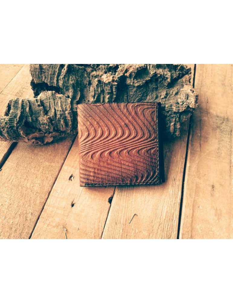 cartera de cuero artesana