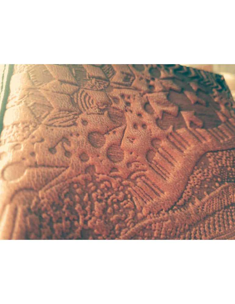 leather wallet embossed