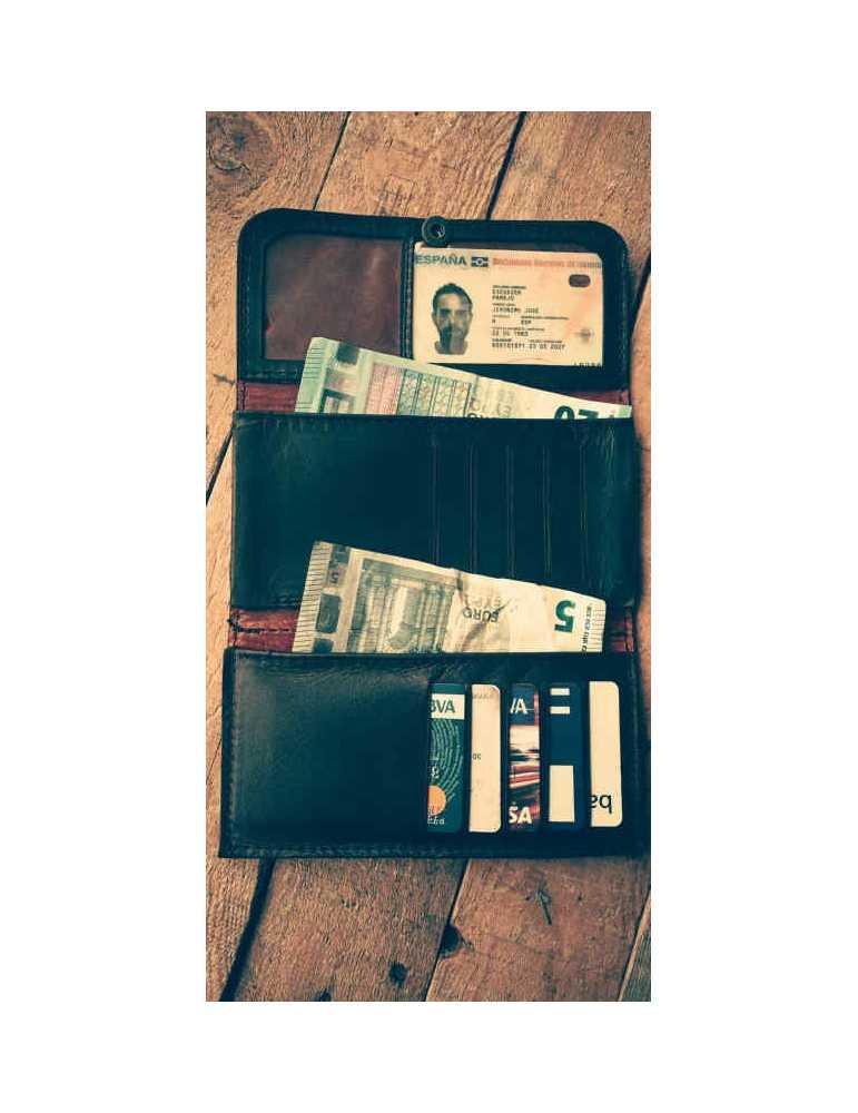 leather wallet cash holder