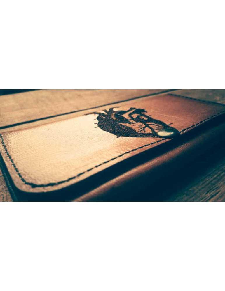 cartera de cuero mujer artesana