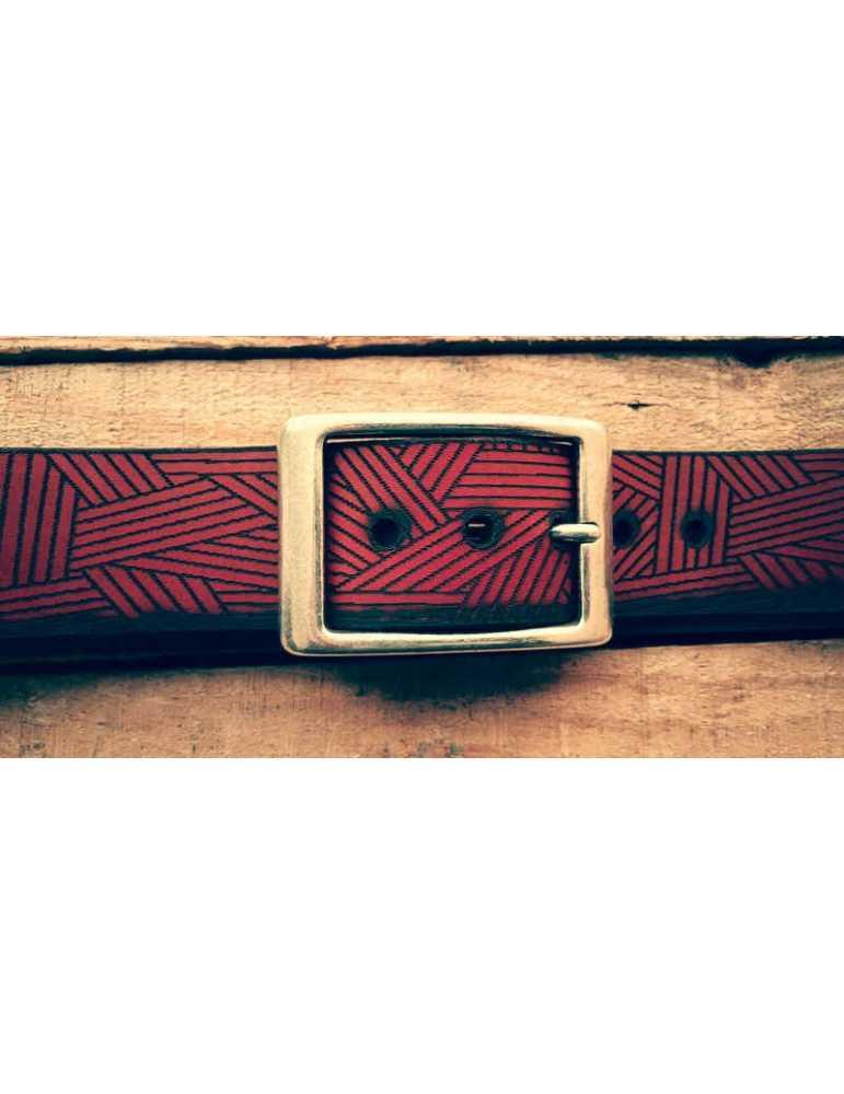 cinturon de cuero artesano