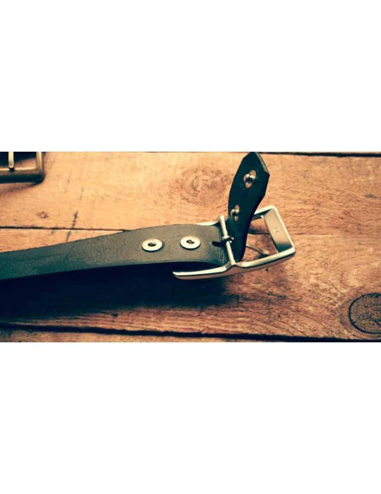 Wide 40 mm  Hieros Leather Cinturón de Cuero Negro, Marrón, Bronceado.Cinturón Hieros Cinturón de cuero auténtico. Cinturón de c