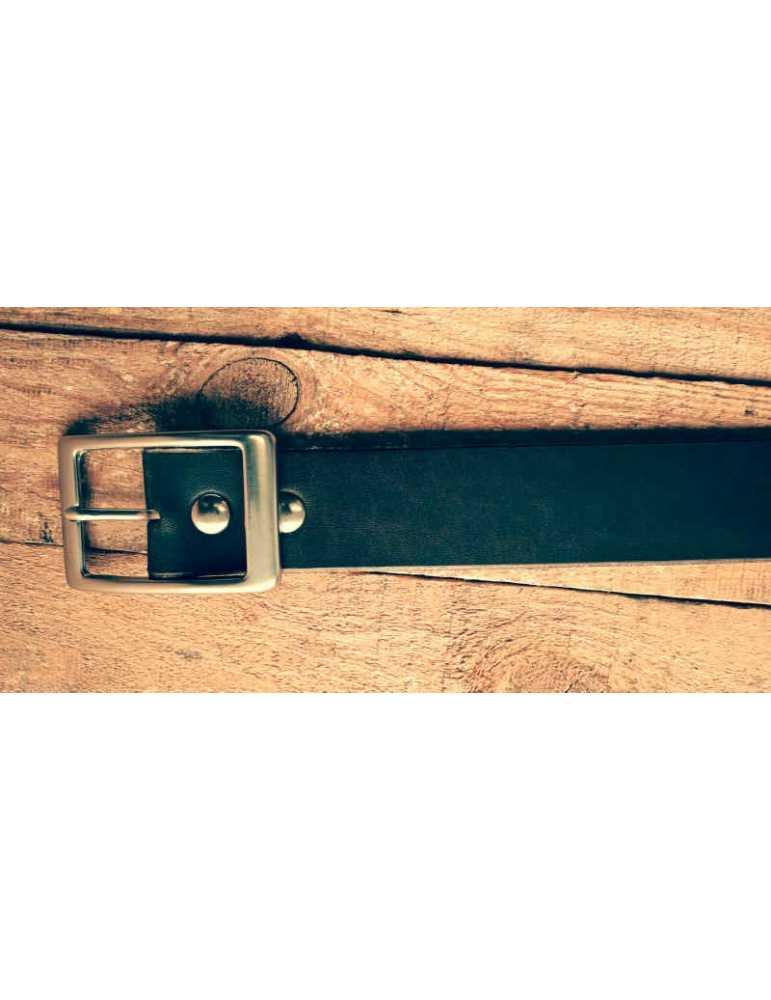 cinturon de cuero marron chocolate