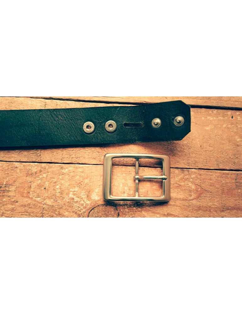 Wide 40 mm  Hieros Leather Cinturón de Cuero Negro, Marrón o Bronceado.Cinturón Linea Cinturón de cuero auténtico. Cinturón de c