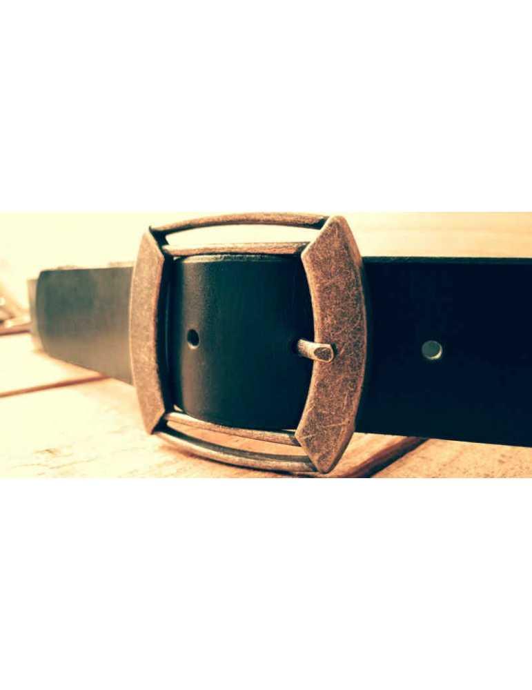 black leather belt for man