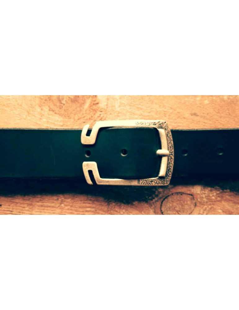 black leather belt men