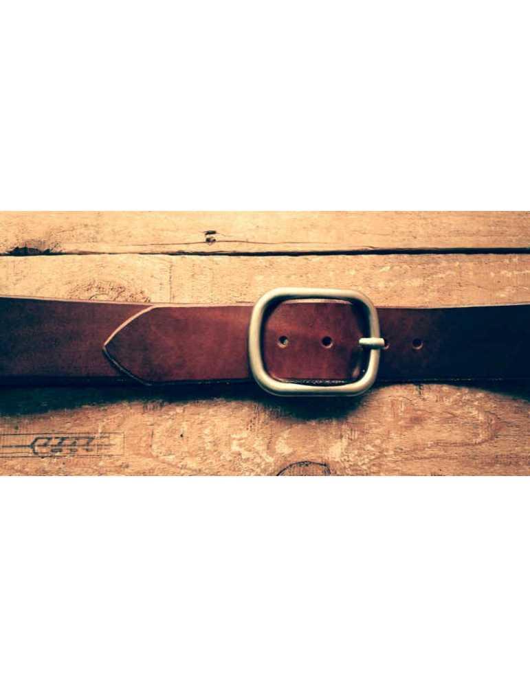 cinturón de piel artesano