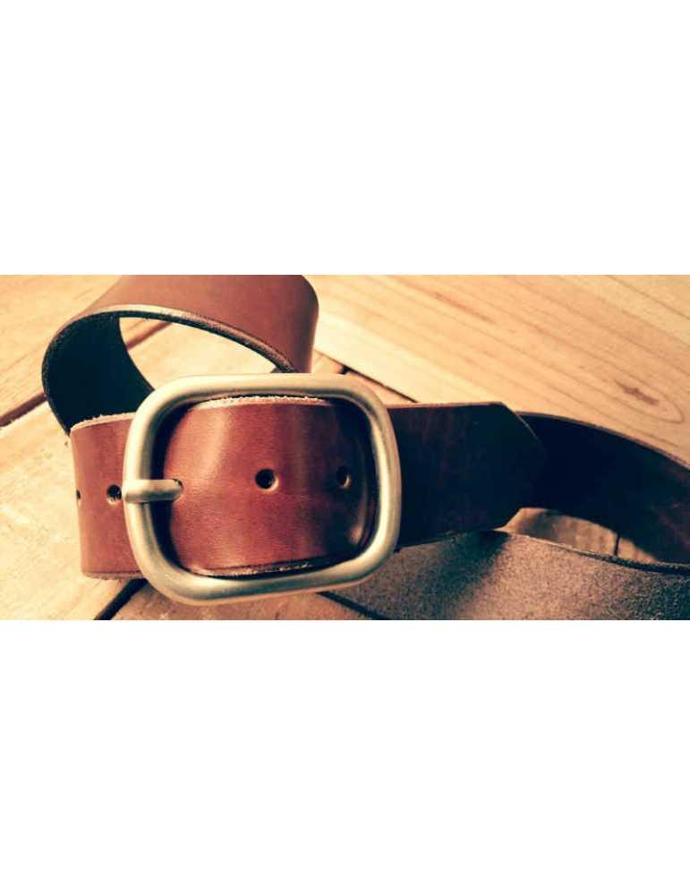 cinturon de piel hecho a mano