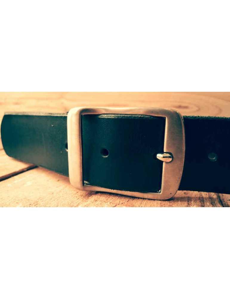 black leather belt women