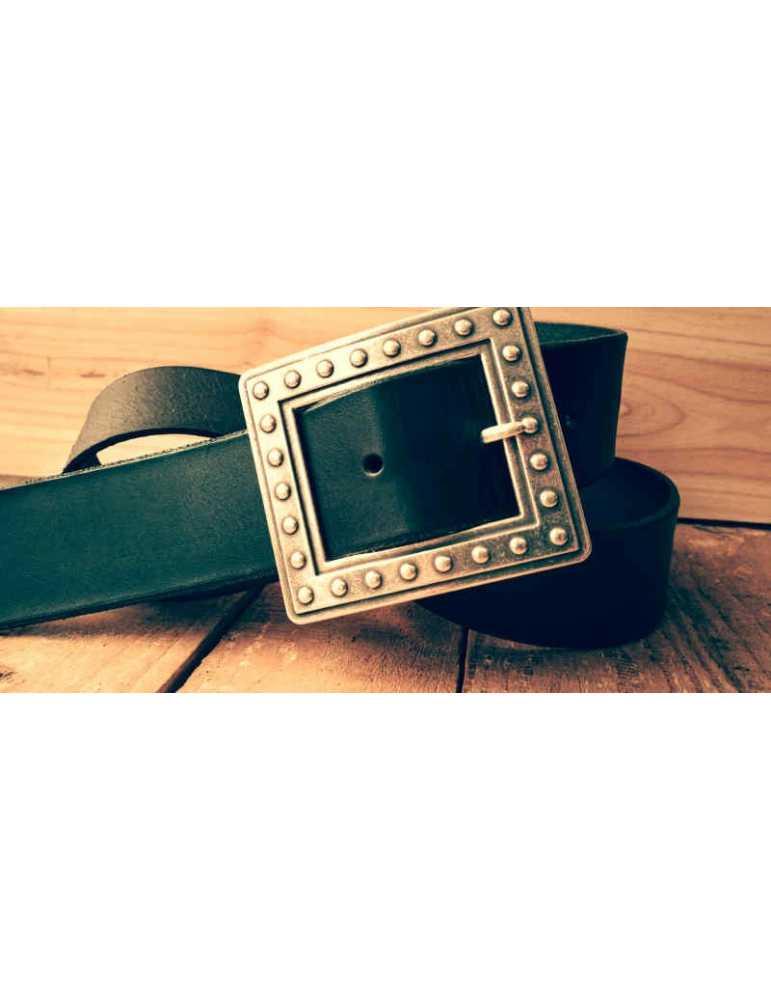 cinturon cuero negro
