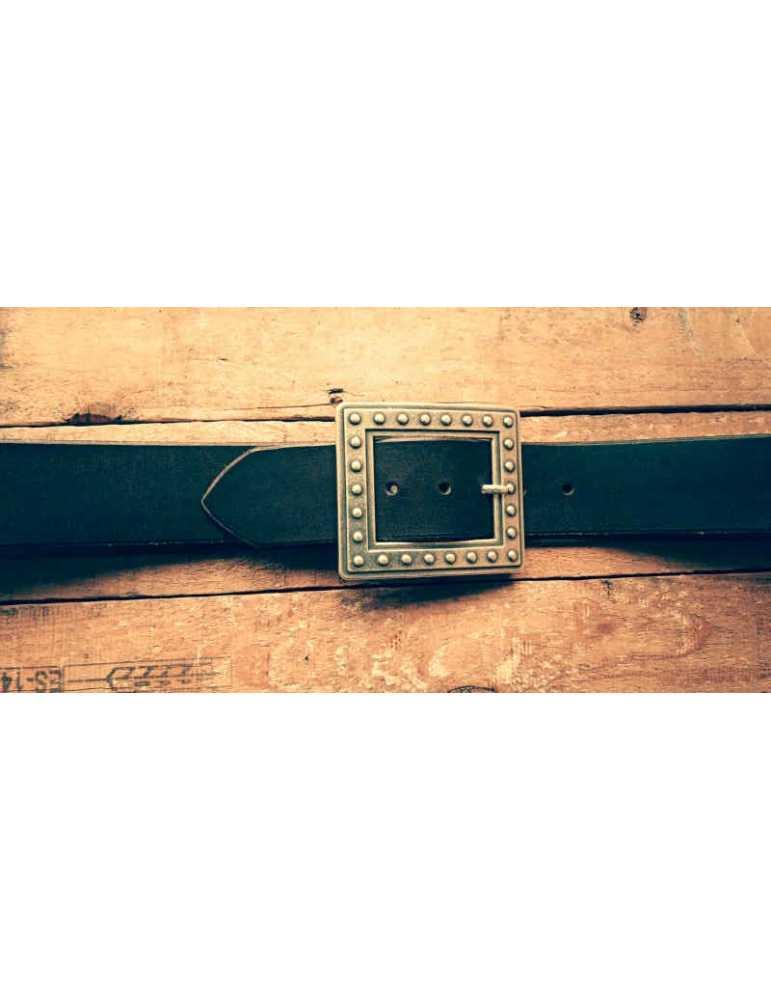 cinturon cuero marron