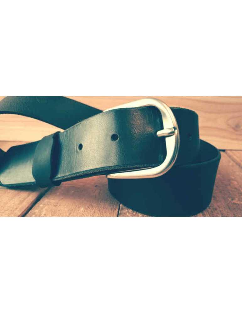 cinturon de cuero negro hombre