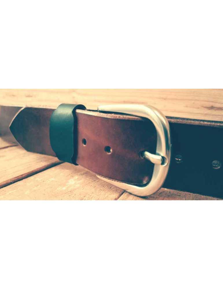 cinturon de piel artesano