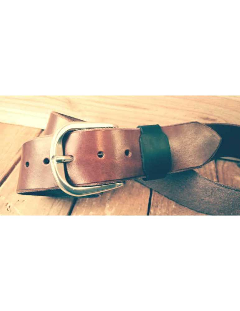 cinturon de piel marrón