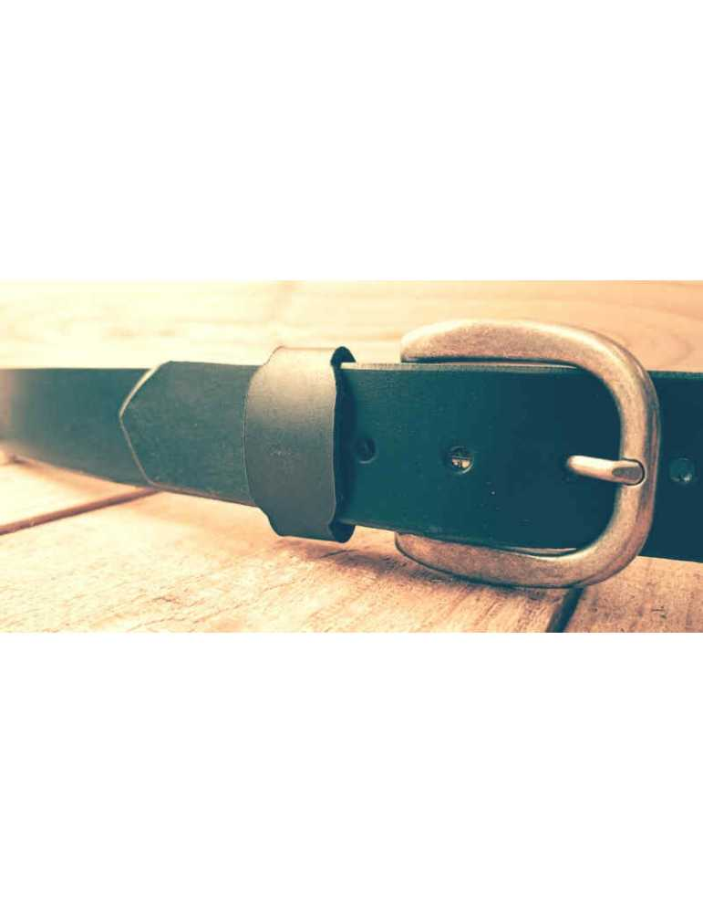 black leather belt for women