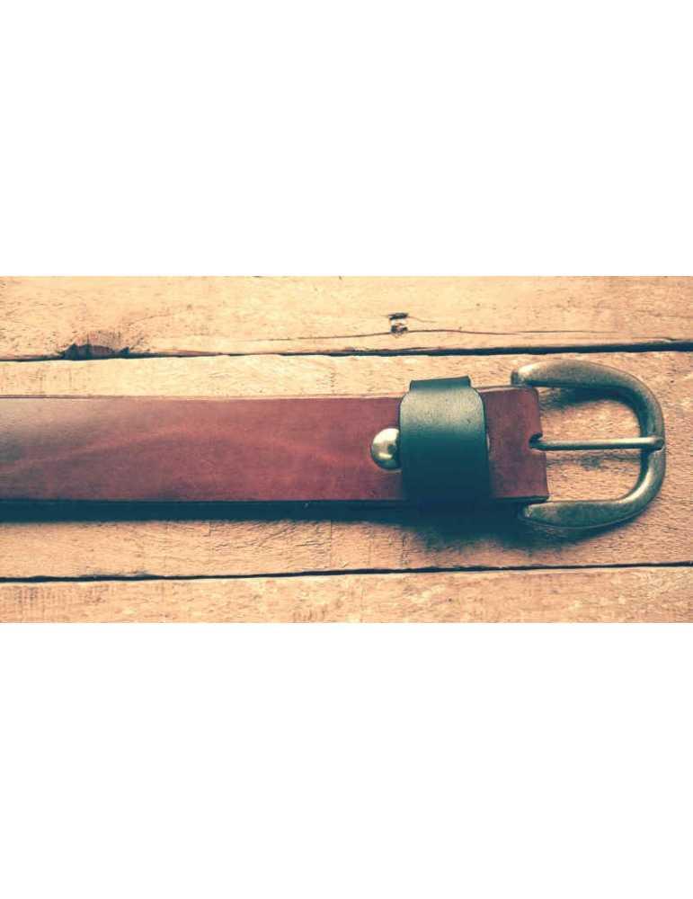 cinturon de piel marron
