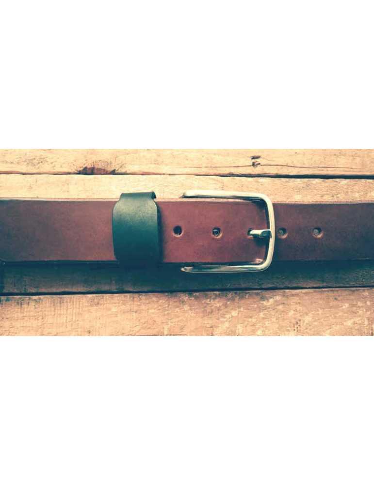 brown full grain belt