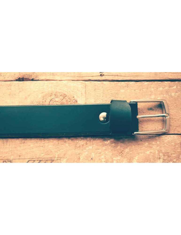 cinturon de cuero negro mujer