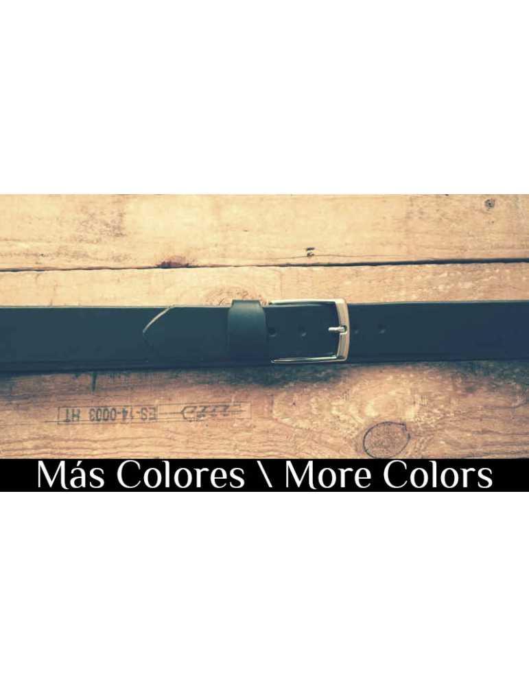 cinturon de cuero color