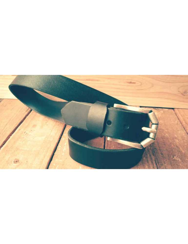 cinturon de piel negro mujer