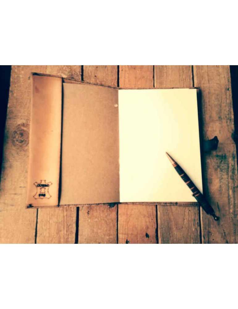 Fundas de cuero para libros  Hieros Leather Funda de cuero para libros, agendas o cuadernos. Diseño Molino de Viento Funda de cu
