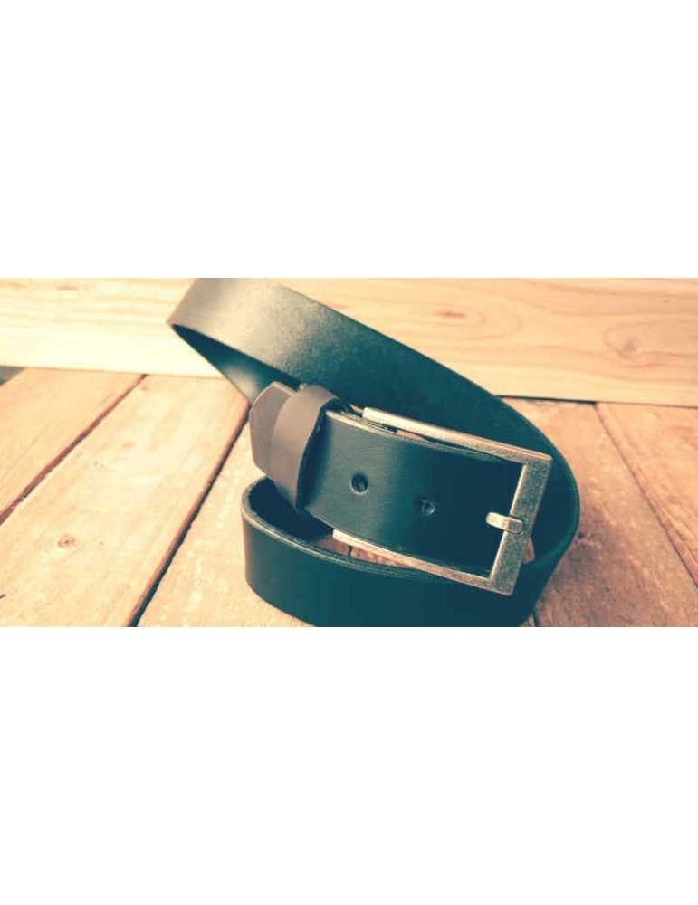 black hand made belt