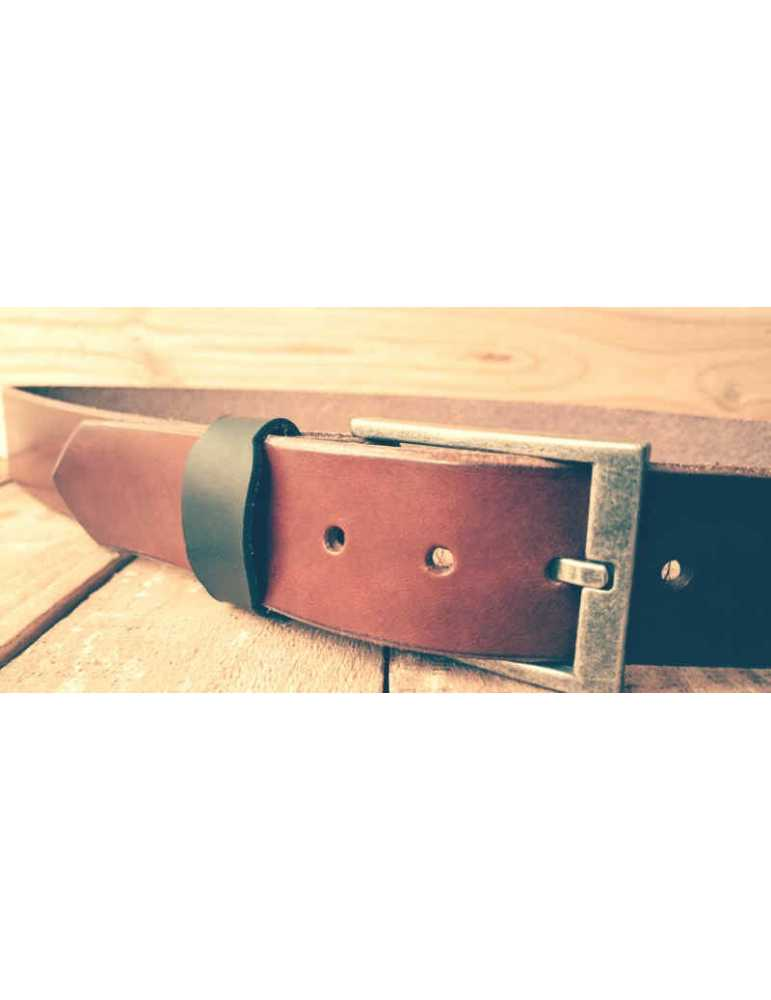brown handmade belt