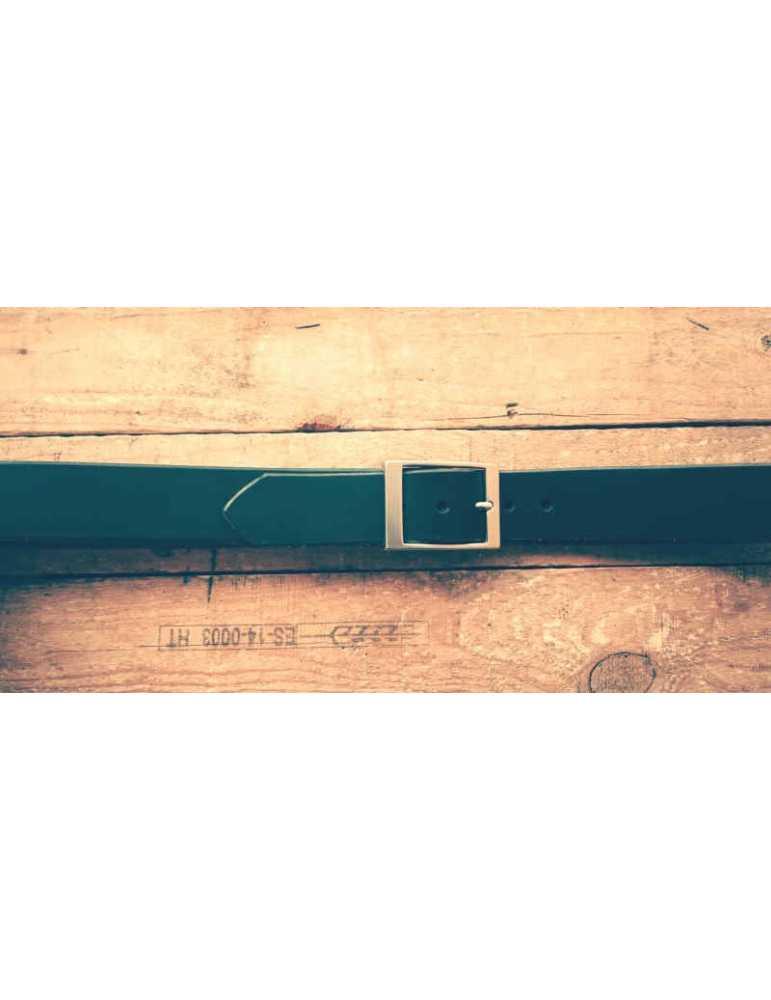 full grain leather belt black
