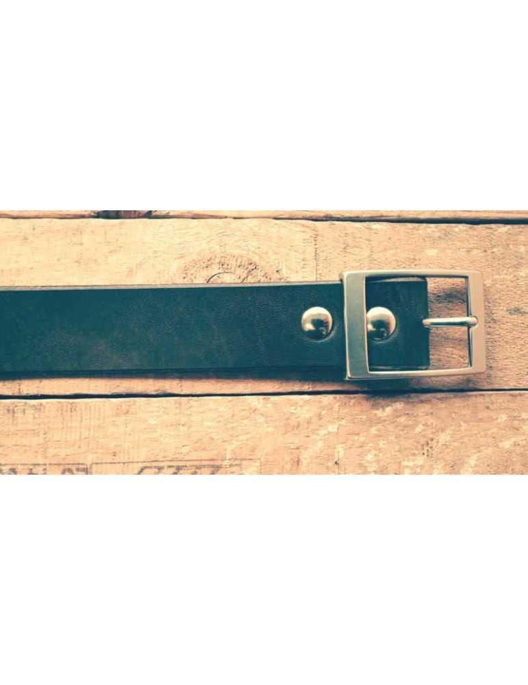 full grain leather belt brown