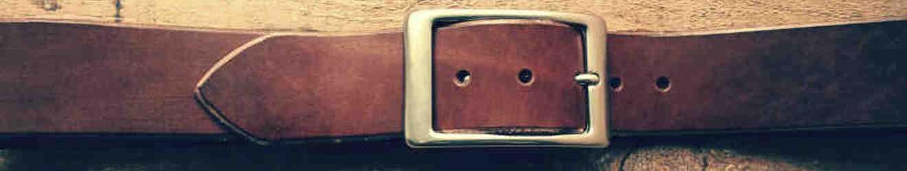Cinturones de cuero lisos
